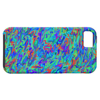 Blue Abstract Swirl iPhone SE/5/5s Case