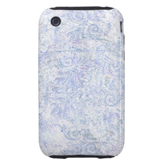 Blue Abstract Swirl Pattern Tough iPhone 3 Case