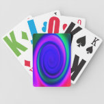 Blue Abstract Swirl Pattern Deck Of Cards