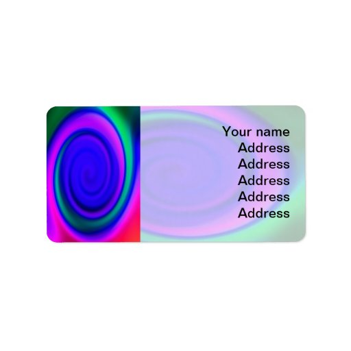 Blue Abstract Swirl Pattern Label