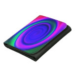 Blue Abstract Swirl Pattern Trifold Wallet