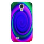 Blue Abstract Swirl Pern Samsung Galaxy S4 Cases