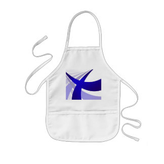 Blue Abstract Swooshes Kids' Apron