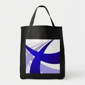 Blue Abstract Swooshes Tote Bag