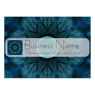Blue Abstract Tile 296 Large Business Card