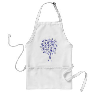 Blue Abstract Tree Adult Apron