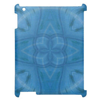 Blue abstract trendy pattern cover for the iPad 2 3 4