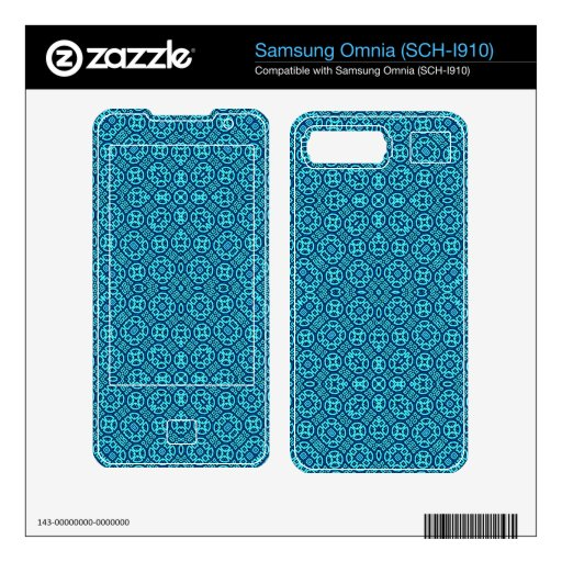 Blue Abstract Trendy Pattern Samsung Omnia Decals