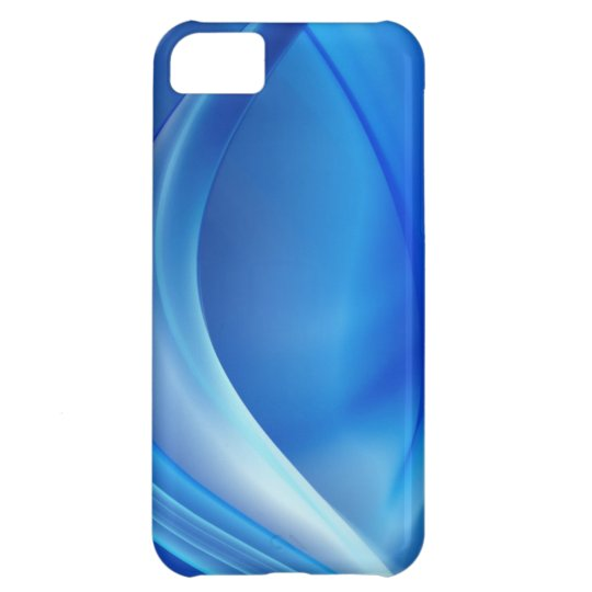 Blue Abstract Twist Digital Art iPhone 5C Cover