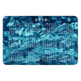 Blue Abstract Water 2016 Calendar Magnet