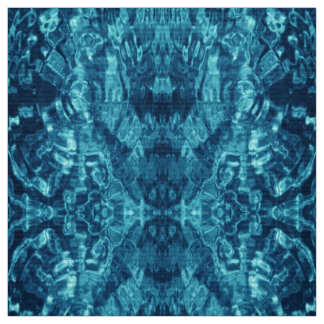 Blue Abstract Water Photo Fabric