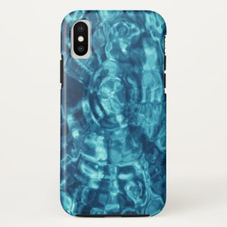 Blue Abstract Water Ripples Photo iPhone Case