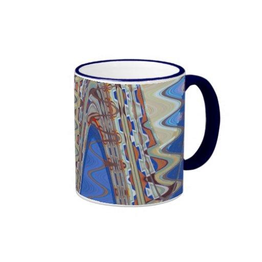 Blue Abstract Waves Coffee Mug Zazzle