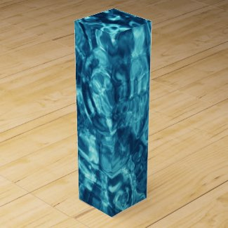 Blue Abstract Wine Boxes