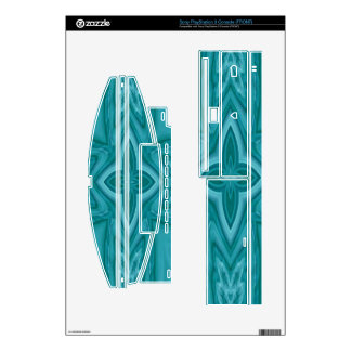 Blue abstract wood cross PS3 console skins
