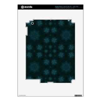 Blue abstract wood iPad 3 skin