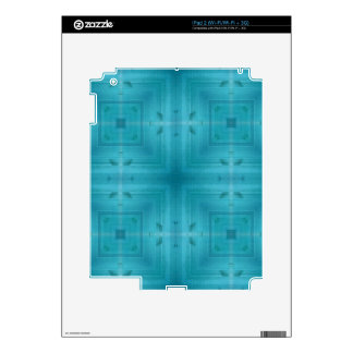 Blue Abstract wood pattern Decals For iPad 2