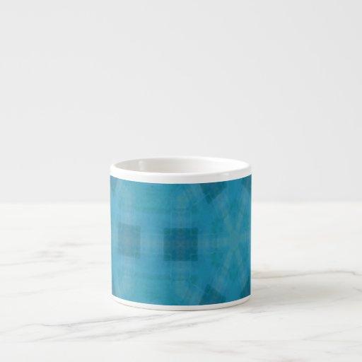 Blue abstract wood Pattern Espresso Mugs