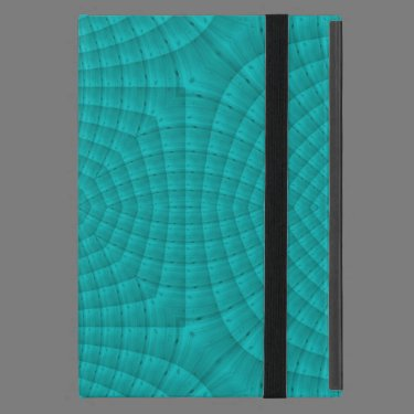 Blue abstract wood pattern iPad mini cover