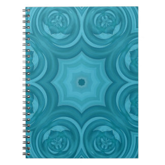 Blue abstract wood pattern spiral notebook