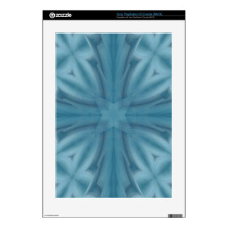 Blue abstract wood Pattern PS3 Decal