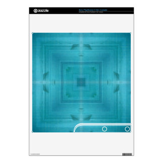Blue Abstract wood pattern PS3 Slim Decal