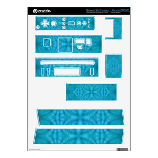 Blue abstract wood Pattern Skins For Nintendo Wii