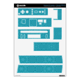 Blue Abstract Wood Pattern Nintendo Wii Skins