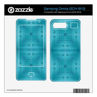 Blue Abstract wood pattern Samsung Omnia Skins
