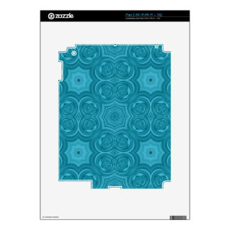 Blue abstract wood pattern skins for iPad 2