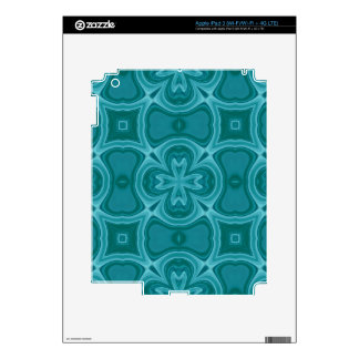 Blue abstract wood pattern skins for iPad 3