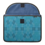 Blue abstract wood Pattern Sleeve For MacBooks