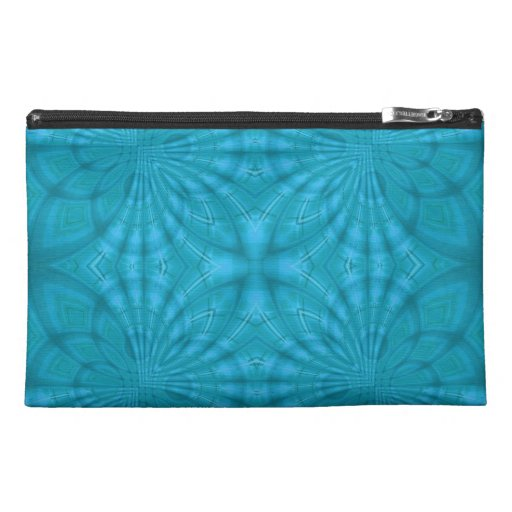 Blue abstract wood Pattern Travel Accessory Bags