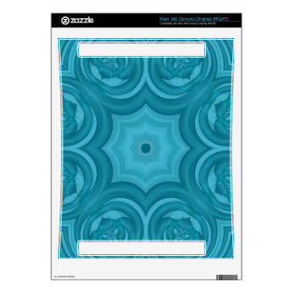 Blue abstract wood pattern xbox 360 decal