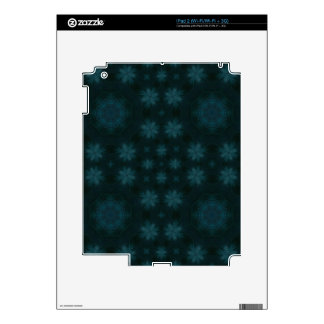 Blue abstract wood skin for iPad 2