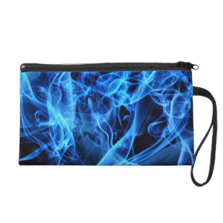 Blue Abstract Wristlet