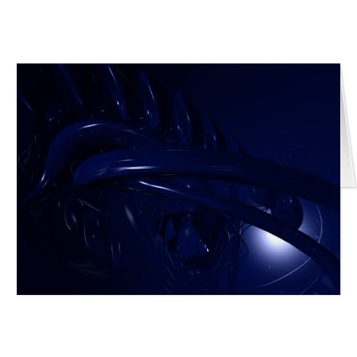 Blue Abstracts 10 Card