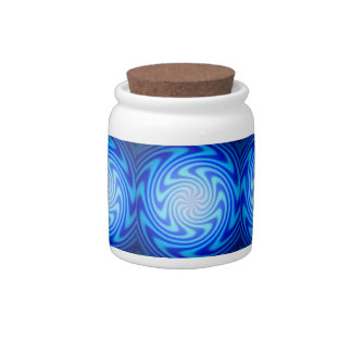 Blue Abyss Downward Spiral Candy Jar