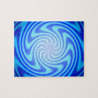Blue Abyss Downward Spiral Jigsaw Puzzle