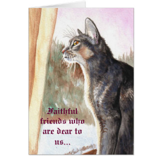 "Blue Abyssinian ""Faithful Friends"" Christmas Card"