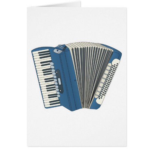 blue accordian greeting cards