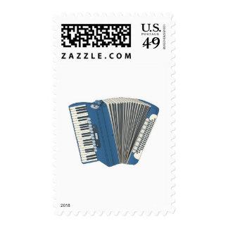 blue accordian stamp