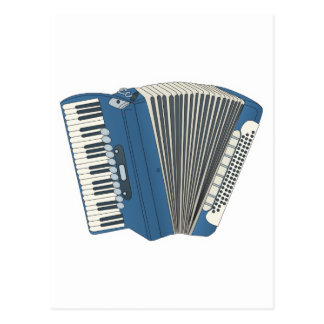 blue accordian postcard