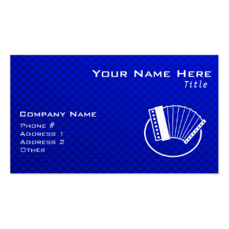 Blue Accordion Business Card