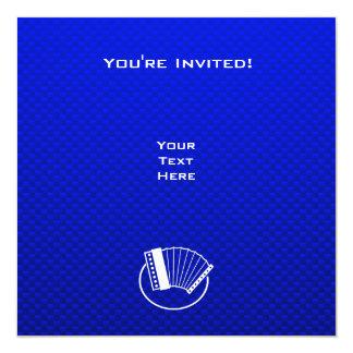 Blue Accordion 5.25x5.25 Square Paper Invitation Card
