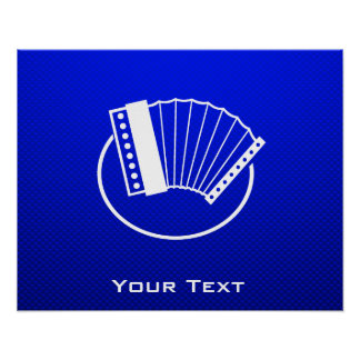 Blue Accordion Posters