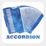 Blue Accordion Square Sticker