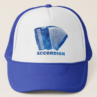 Blue Accordion Trucker Hat