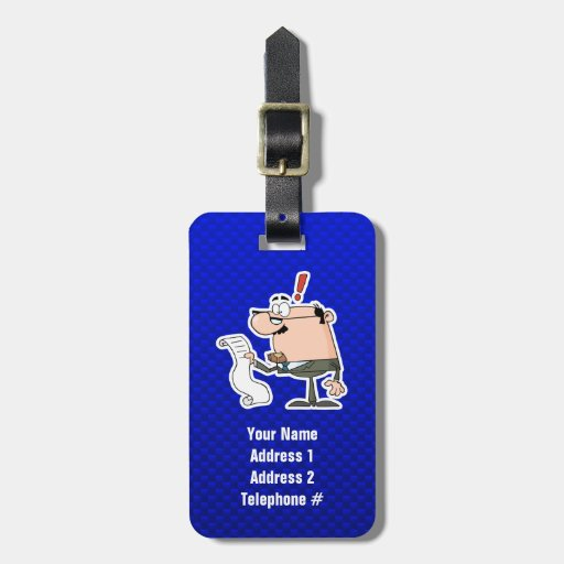 Blue Accountant Luggage Tags