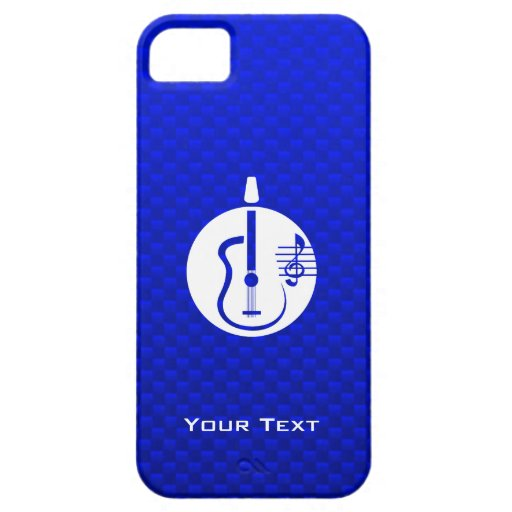 Blue Acoustic Guitar iPhone 5 Covers
